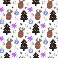 handritad jul sömlösa mönster