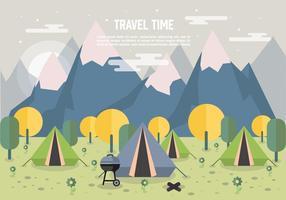 Camping Liggande vektor Forest