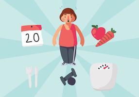 Berechnen Sie Ihre Gewicht und immer gesund Vektor
