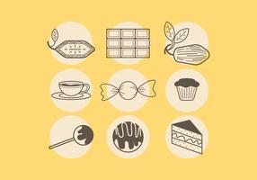 Verschiedene Schokoladen-Vektoren