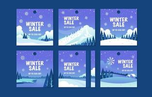 Wintersaison Sale Label Tag mit Oudoor Landschaft vektor