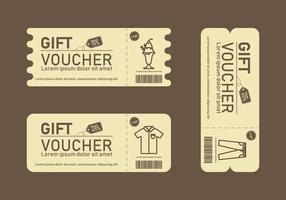 Geschenkgutscheinvorlagen vektor