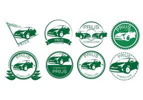 Freie Hybrid Auto Abzeichen Vektor