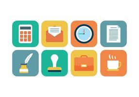 Kostenlose Office-Icon Set vektor