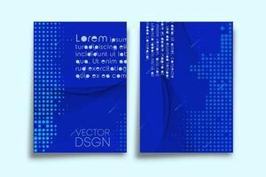 Halbtonmuster-Design für Flyer-Vorlage