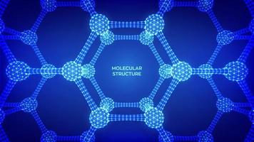 Molekülstruktur futuristisches Banner vektor