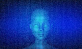 artificiell intelligens koncept futuristisk banner vektor