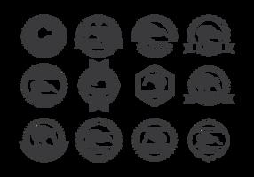 Kiwi Bird Etiketter Vektor