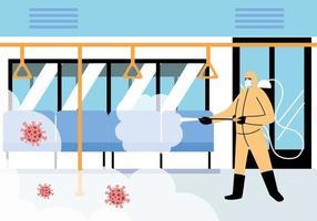 service tunnelbanedesinfektion av coronavirus eller covid 19