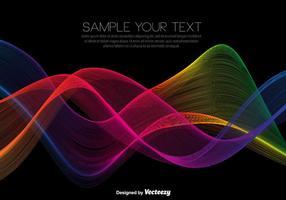 Vector Rainbow Colored Wellen