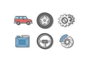 Freie Auto-Reparatur-Vektoren