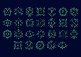 Freie Retro Vintage Ornamental Logo Vector
