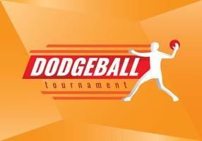 Freie Dodgeball Turnier Vector Logo