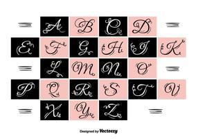 bokstäver vektor