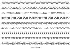 Hand Drawn Doodle gränser vektor