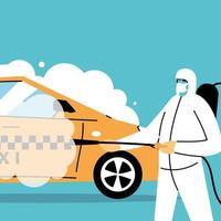 service taxi desinfektion med coronavirus eller covid 19