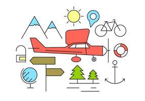 Free Travel Icons vektor