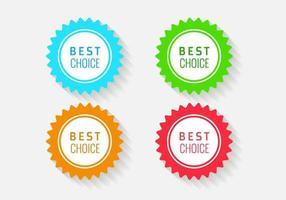 Etiketten der besten Wahl vektor