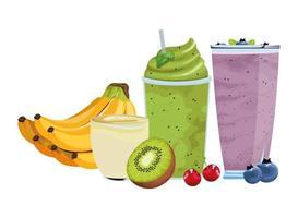 tropisches Obst und Smoothie-Getränk