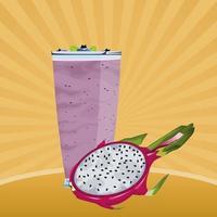 tropisk frukt och smoothie dricker retro design vektor