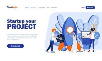 startprojektets målsidesmall