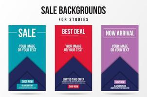 trendig redigerbar försäljning, specialerbjudande och nya släppmallar vektor