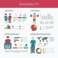 Infografik für behinderte Menschen vektor