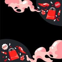 svart fredag shopping bakgrund vektor