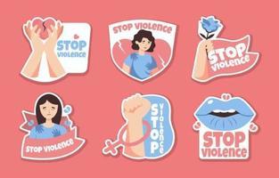 Gewalt gegen Frauen verhindern und stoppen vektor