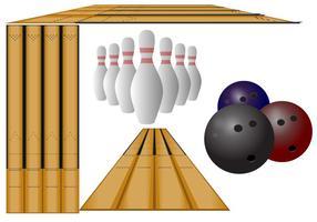 Perspektive Bowling Lane Vektoren