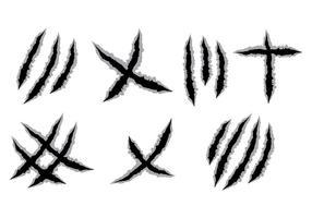 Kratzer-Markierungen Vektor