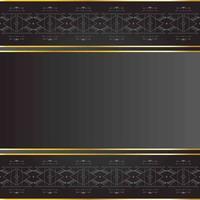 schwarzer Hintergrund mit Stammesmuster und Goldrand vektor