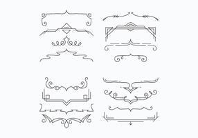 Halterungen für die Dekoration Vektoren