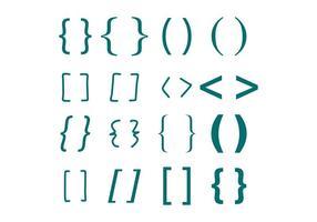 Turquoise Brackets vektor