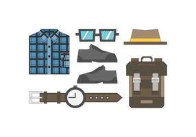 Kostenlose Sleek Hipster Männer Outfits Vektoren