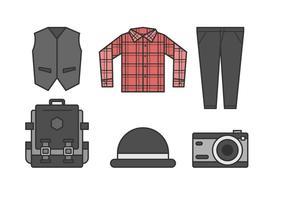 Fria Sleek Hipster Herr Outfits vektorer