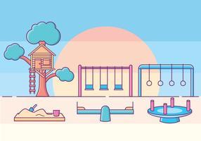 Barn Playground Illustration