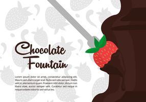 Schokoladen-Brunnen-Vektor-Hintergrund