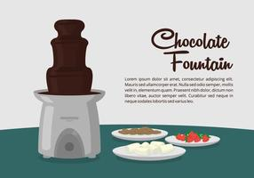 Choklad fontän dessertbord vektor