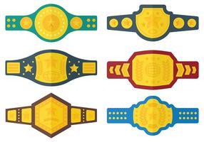 Fri Championship Belt Ikoner vektor
