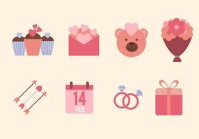 Platta Valentine Vektorer