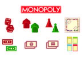 Set Monopoly Icons vektor