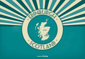 Edinburgh Skottland Retro Illustration