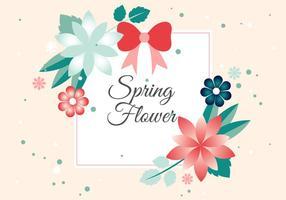 Free Flower Vector-Gruß-Karte vektor