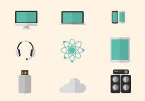 Flat-Technologie Vektoren