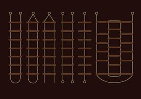 Brun repstege vektorer