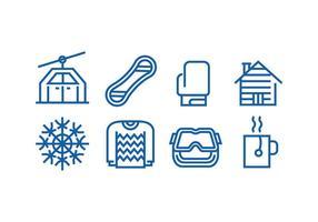Vintersäsongen Icon vektorer