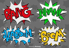 Vektor Comic Tal Bubbles Ikoner