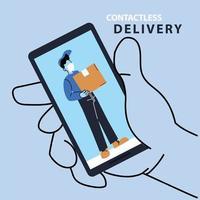 sicherer Kurier von covid 19, Waren online bestellen
