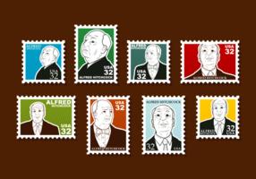 Hitchcock Briefmarken Vektor